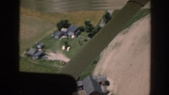 1958: aerial take of a farm NEBRASKA Stock Footage