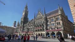 Marienplatz Munich Stock Footage