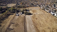 2016: field in a town COLORADO Stock Footage