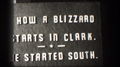 1958: information depicted in white lettering on a gray background. how a Stock Footage
