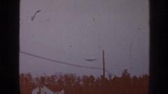 1958: is it a blimp or ufo flying in the sky? NEBRASKA Stock Footage