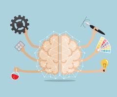 Left and right human  brain vector illustration Stock Illustration