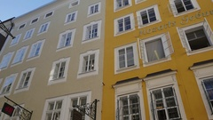 Salzburg Mozart House Stock Footage