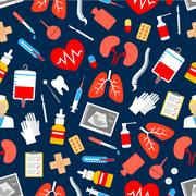 Medicine and healthcare seamless pattern Stock Illustration