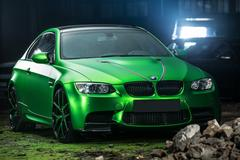 BMW M3 Coupe tuning Stock Photos
