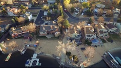 2016: high end homes in a neighborhood and on a shoreline COLORADO Stock Footage