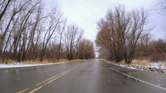 POV point of view - Driving through state park. Stock Footage
