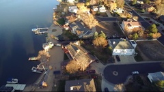 2016: aerial view of a residential community located near the water COLORADO Stock Footage