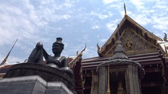 4K Tourist visit Famous Temple of the Emerald Buddha, Wat Phra Kaew Bangkok -Dan Stock Footage