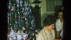 1957: large family holiday get together NEBRASKA Stock Footage
