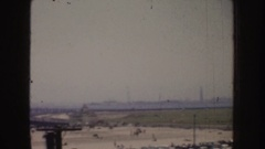 1952: a view from motel el mirador CALIFORNIA Stock Footage