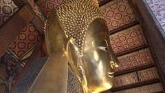 4K Wat Pho Known also as the Temple of the Reclining Buddha or Wat Po-Dan Stock Footage