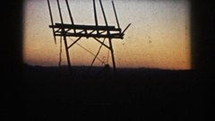 1953: placing device outside SOUTH DAKOTA Stock Footage