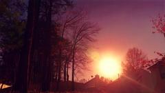 Backyard Sunset Stock Footage