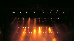 The red light at the concert. The light on the stage. Stage Light. Stock Footage