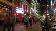 Cleveland East 4th Street restaurants Stock Footage