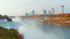 Boat tour Niagara Falls Stock Footage