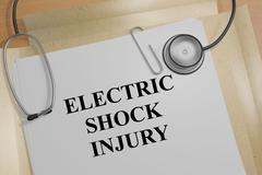 Electric Shock Injury - medical concept Stock Illustration