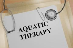 Aquatic Therapy - medical concept Piirros