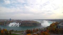 Aerial Niagara Falls Canada Stock Footage
