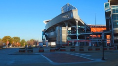 First Energy Stadium Cleveland OH motion video Stock Footage