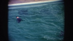 1962: dolphin show in a pool CALIFORNIA Stock Footage