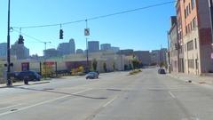 Driving on Reading Road Downtown Cincinnati Ohio Arkistovideo