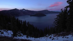 Crater Lake National Park Oregon Stock Footage
