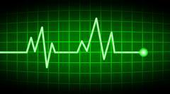 Green heart rate screen Stock Illustration