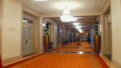 Renaissance Hotel walk through 4k Stock Footage