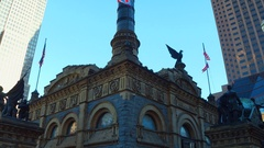 Motion video Soldiers and Sailors Monument Cleveland Ohio Stock Footage