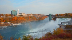 Niagara Falls between Canada and the US Stock Footage