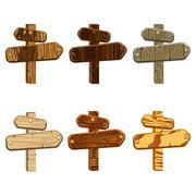 Set wooden pointers Stock Illustration