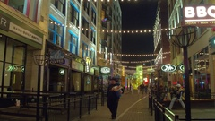 Out for a stroll in Cleveland Ohio Stock Footage