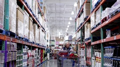 Home equipment product corridor in Costco store with 4k resolution Stock Footage