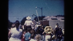 1954: all are enjoyed in festival with their family by their own style SOUTH Stock Footage