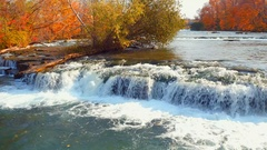 River to Niagara Falls Stock Footage