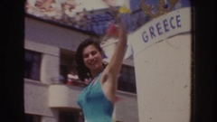 1952: victory celebration of miss world title,beauties are moving around in Stock Footage