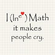 I love math, it makes people cry - funny inscription template Stock Illustration