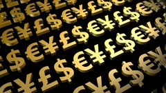 Foreign Exchange or Forex Currency Trading Signs Stock Footage