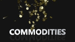 Commodities Concept with Gold Coins Falling From the Sky Stock Footage