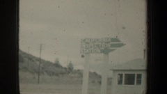 1957: recording landmarks and water while driving to destination. OREGON Stock Footage