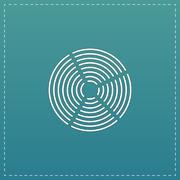 Crop Circle icon Stock Illustration