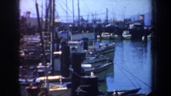 1957: boats of many choices; rental slips for your boat or look for your next Stock Footage