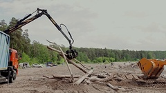 Cleaning garbage in the nature Stock Footage