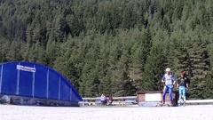 Summer biathlon training, SLOW MOTION Stock Footage