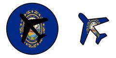 Nation flag - Airplane isolated - New Hampshire Stock Illustration