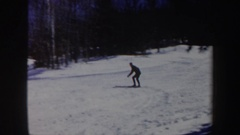 1962: men skiing on holiday VERMONT Stock Footage