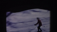1962: a skier careening down a slope at breakneck speed NEW HAMPSHIRE Stock Footage