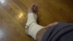 Hurt foot injury injured Stock Footage